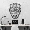 Этническая маска Loki: декор из металла на стену