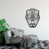 Этническая маска Loki: настенная декорация из металла