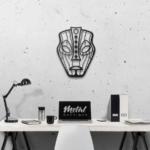 Этническая маска Loki: панно из металла на стену