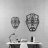 Этническая маска Loki: металлическое панно