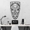 Этническая маска Juju: декор из металла на стену