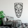 Этническая маска Juju: декоративное панно из металла