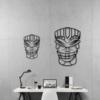 Этническая маска Lulz: геометрическое панно на стену