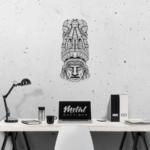 Этническая маска Totem: настенное украшение из металла на стену