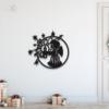 Новогодний ангел: украшение из металла на стену
