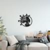 Новогодний ангел: панно на стену из металла