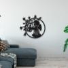 Новогодний ангел: металлическое панно на стену