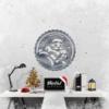 Дед Мороз: панно из металла на стену