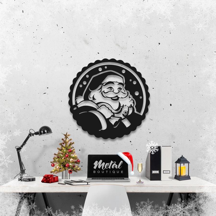 Дед Мороз: панно настенное из металла