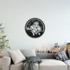 Дед Мороз: фигура из металла на стену