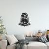 Новогодний колокольчик: металлическое панно на стену