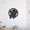 Новогодний свин: панно из металла на стену