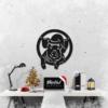 Новогодний свин: декоративное панно из металла