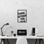 Think outside the box: панно с надписью на стену