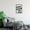 Think outside the box: металлическая надпись на стену