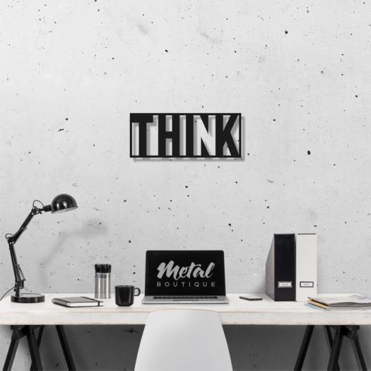 Думай: слово из металла на стену