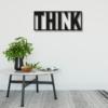 Думай: металлическое слово на стену