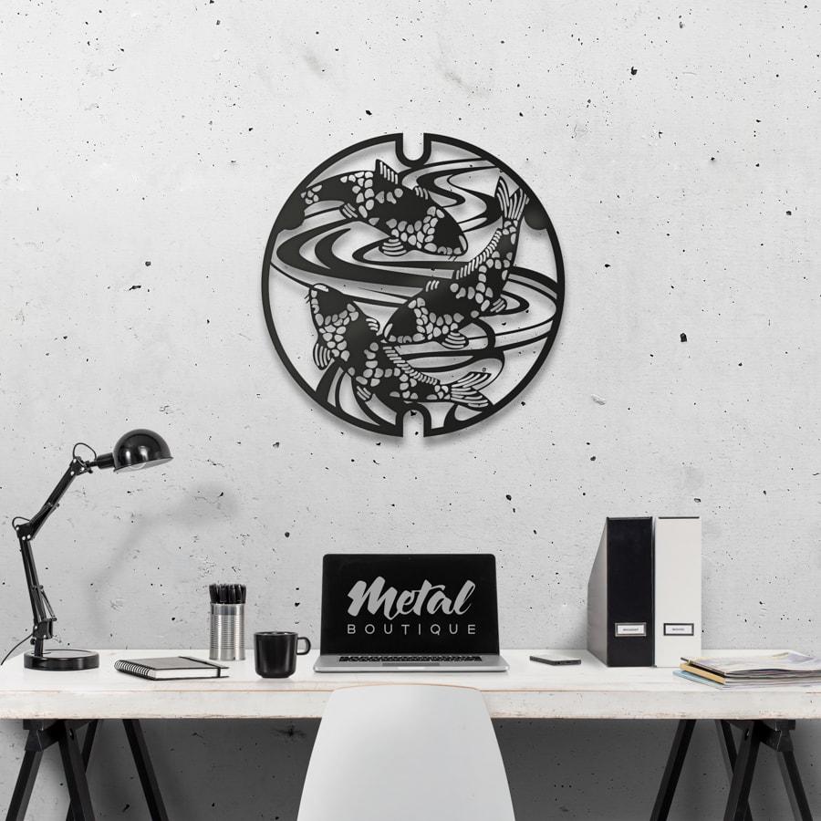 Рыбы: декоративное панно из металла