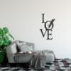 Love is all you need: металлическая надпись на стену